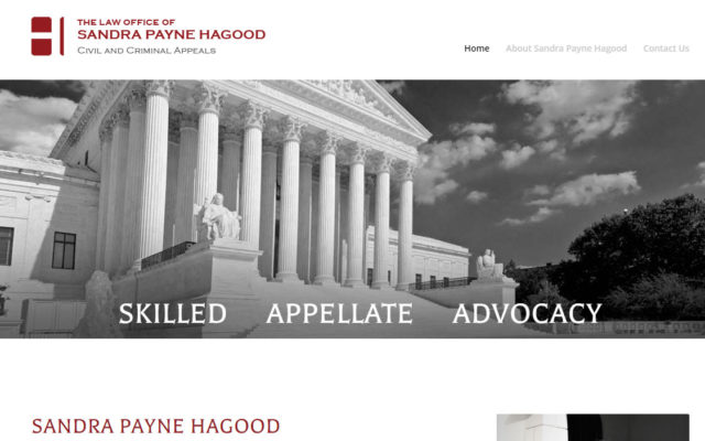 Hagood Appellate Website redesign by Amy Beam